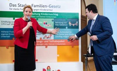 Ministerin Giffey mit Hubertus Heil