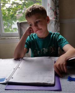 Schüler bei Hausaufgaben