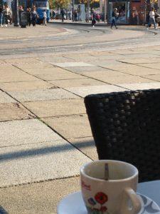 Kaffeepause in Zagreb