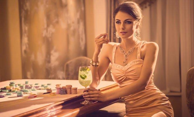 Frau im Casino