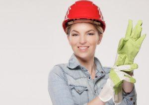 Frau auf der Arbeit