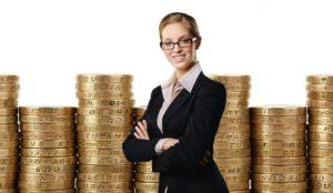 Frau und Geld