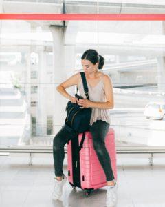 Frau auf Reisen