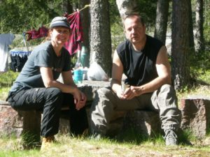 95_Edith+Alex beim Camp_Norwegen