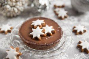 Schokoladen Tartelette mit Zimtsternen
