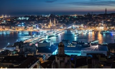 Nachtstimmung über dem Bosporus